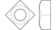 Regular And Heavy Square Nuts